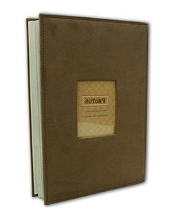 """Photo Album, Holds 200 4""""x6"""" pictures, 2 per page, Faux Leat"""